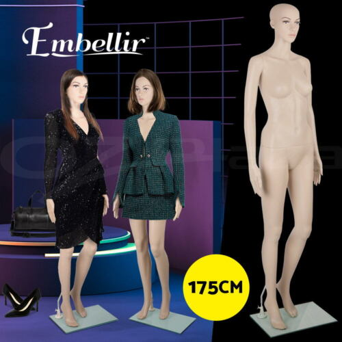 Embellir Full Female Mannequin Body 175cm Head Torso Clothes Display Dressmaking