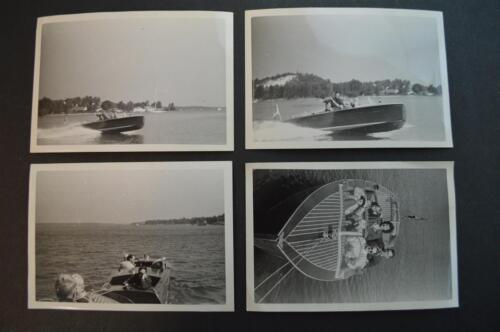 Vintage Photos Family in Wood Deck Speed Boat maybe Gar Wood Chis Craft 904032