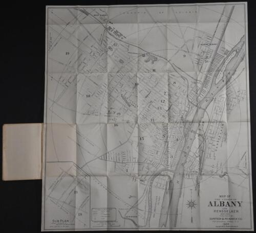 The New 1906 Map of Albany New York Hardcover Book Foldout Map NO TEARS