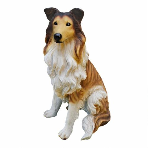 BORDER COLLIE Bronze Effect Dog Sculpture Figurine Statue Gift for Dogs Lovers