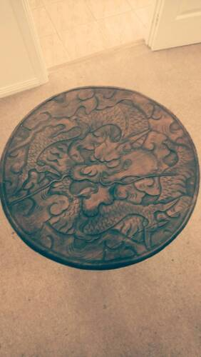 Carved Chinese Dragon Table Antique wooden furniture.