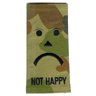 'Not Happy' rank slide Militaria Patch Patches