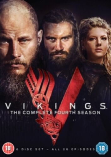 Vikings Season 4 Series Four Fourth Parts 1 and 2 New Region 4 DVD Box Set