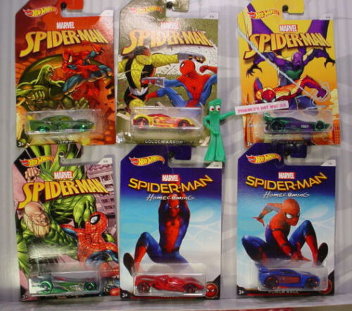 2017 Marvel Spider-Man Homecoming  Hot Wheels ? Wal-Mart Exclusif 6 Voiture Set