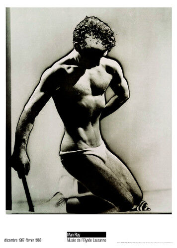 Male Figure Study, 1933 by Man Ray Art Print Nude Gay Poster 27.5x20
