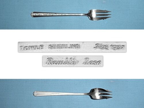 TOWLE STERLING PICKLE / OLIVE FORK ~ RAMBLER ROSE ~ NO MONO