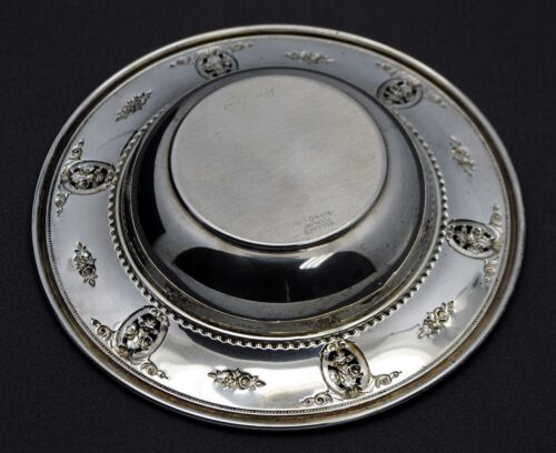 ANTIQUE STERLING SILVER WALLACE ROSE POINT DISH TRAY