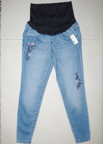 Maternity Skinny Jeans Jeggings size 8 NEW Ankle NWT A Glow Full Coverage Medium