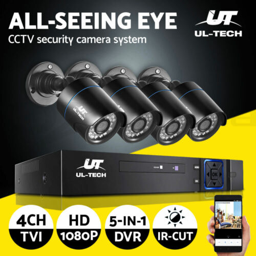 UL-tech CCTV Camera Security System 4CH DVR 1080P Outdoor IP Day Night 2MP HD <br/> ✓Real 1080P Camera ✓APP Control ✓Email Alert✓Clearance!