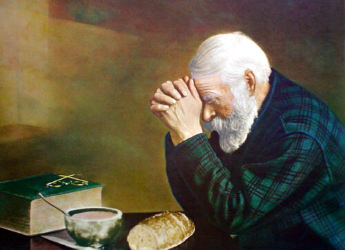 Grace hands praying christian Oil painting Canvas Giclee Art Print L1917