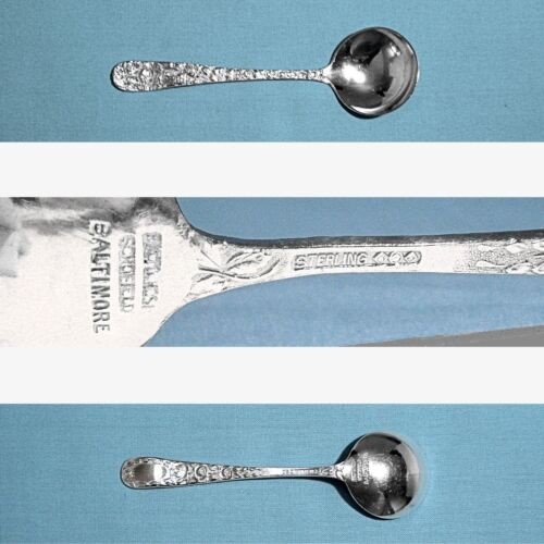 SCHOFIELD STERLING DRINK MUDDLER SPOON ~ BALTIMORE ROSE ~ DECOR BACK ~ NO MONO