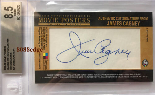 "2007 BREYGENT MOVIE CUT AUTO: JAMES CAGNEY #1/1 ""AFI 8TH GREATEST"" BGS AUTOGRAPH"