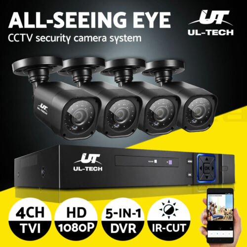UL-tech CCTV Security Camera System Home DVR 1080P Outdoor 2MP HD Day Night