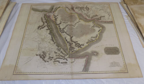 1814 Antique COLOR Map///ARABIA, EGYPT, ABYSSINIA, RED SEA, ETC.///Large 21x28""