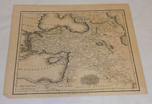 c1834 Antique Map /// TURKEY IN ASIA