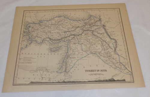 1850 Antique Map///TURKEY IN ASIA