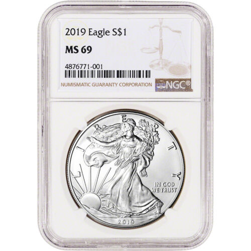 2019 American Silver Eagle - NGC MS69