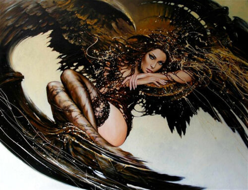 Fantasy women Oil Painting Giclee Art Printed on canvas L2099