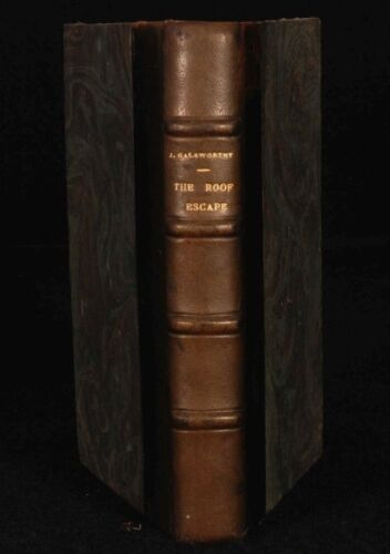 1930 JOHN GALSWORTHY 2 Plays The ROOF & ESCAPE Illus