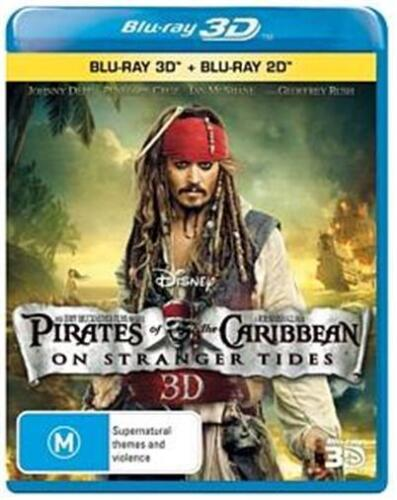Pirates Of The Caribbean 4 On Stranger Tides : 3D Blu-Ray NEW