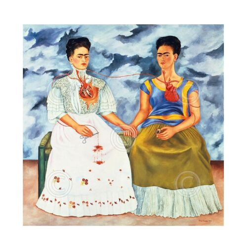 The Two Fridas, 1939 by Frida Kahlo Art Print Poster 11x14