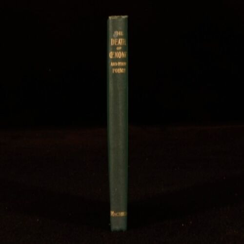 1892 The Death of Oenone Alfred Tennyson First Edition Poetry