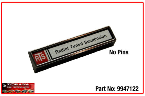 RTS Badge to suit HZ Holden (incl. GTS) and UC Torana