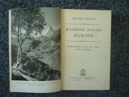 ROAMING ROUND EUROPE 1954 1st Ed. Hardcover Signed by Author Frank Clune