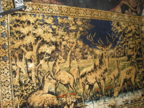VINTAGE TAPESTRY----THE BIG BUCK --SIX FEET BY FOUR FEET