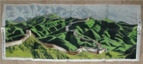 GREAT WALL OF CHINA FABRIC TAPESTRY ~ 3 FEET LONG ~ BRAND NEW READY 2 FRAME/HANG