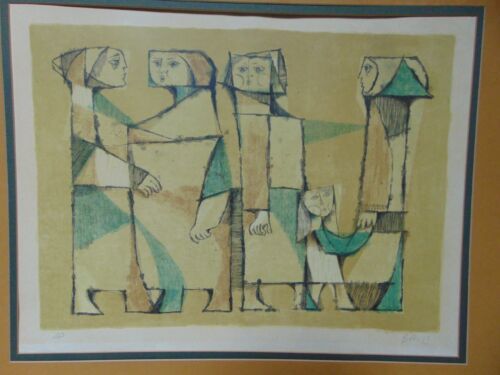 """SAMI BRISS """"FAMILY"""" ARTIST PROOF, SIGNED LITHOGRAPH"""