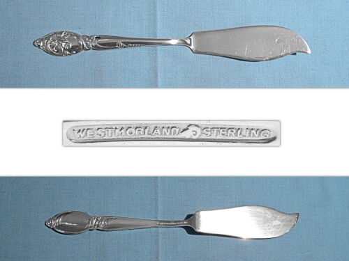 WESTMORLAND STERLING FLAT HANDLE MASTER BUTTER ~ ENCHANTING ORCHID ~ NO MONO