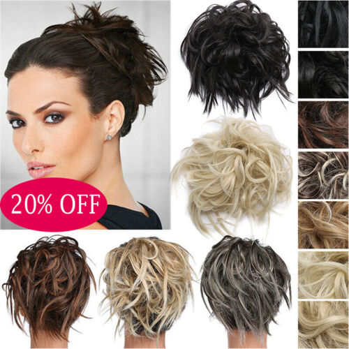 Real Thick Messy Bun Hair Piece Scrunchie Natural Hair Extensions 55G AU Stock