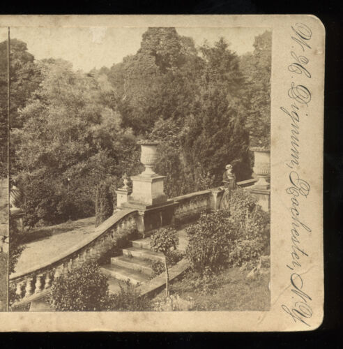 1870s Stereoview Bath, View From Terrace Steps, Prior Park, England by WH Dignum