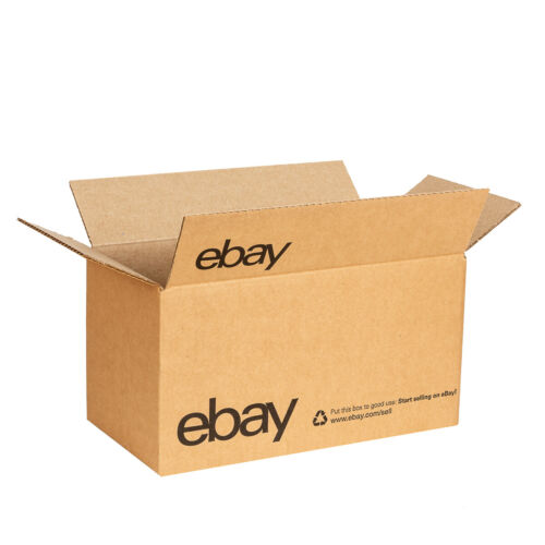 """eBay-Branded Boxes With Black Color Logo 12"""" x 6"""" x 6"""""""