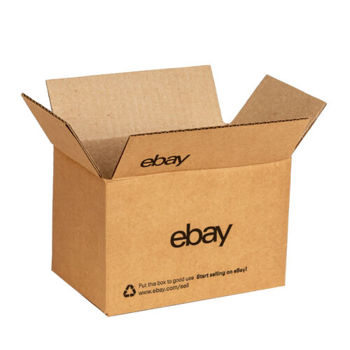 """NEW EDITION eBay-Branded Boxes With Black Color Logo 8"""" x 6"""" x 4"""""""