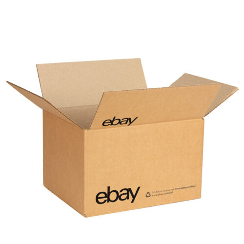 """NEW EDITION eBay-Branded Boxes With Black Color Logo 10"""" x 8"""" x 6"""""""