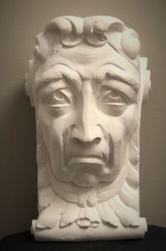 SAD LADY WALL CORBEL BRACKET SHELF ARCHITECTURAL ACCENT HOME DECOR