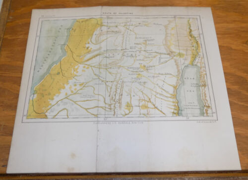 1856 Antique COLOR Map of SOUTH OF PALESTINE