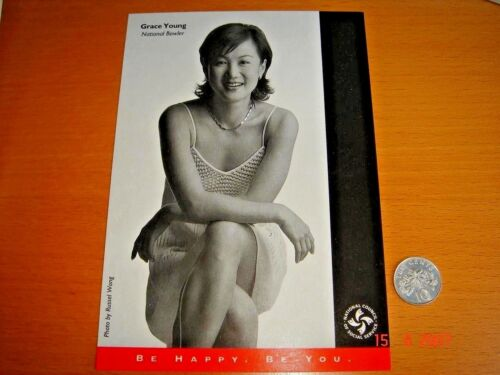 Singapore NCSS ZoCard, Grace Young (Bowling Champion), mint condition