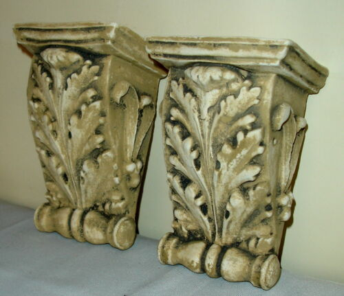 Antique Finish Shelf Acanthus leaf plaster Wall Corbel Sconce Bracket 5.5""