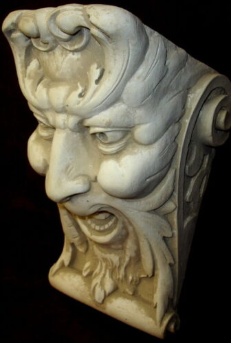 LAUGHING FACE WALL CORBEL BRACKET SHELF ARCHITECTURAL ACCENT HOME DECOR