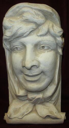 SCARF LADY WALL CORBEL BRACKET SHELF ARCHITECTURAL ACCENT HOME DECOR