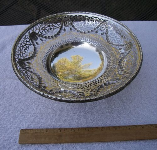 Fine ENGLISH STERLING Pierced COMPOTE-10 Inch-Pairpoint Bros. London 1918