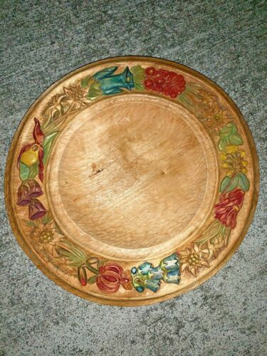 WW2 WWII German rare wooden carved plate bowl dish 1942 Signed BINDL 3/16 ❤️m9Other Militaria - 135