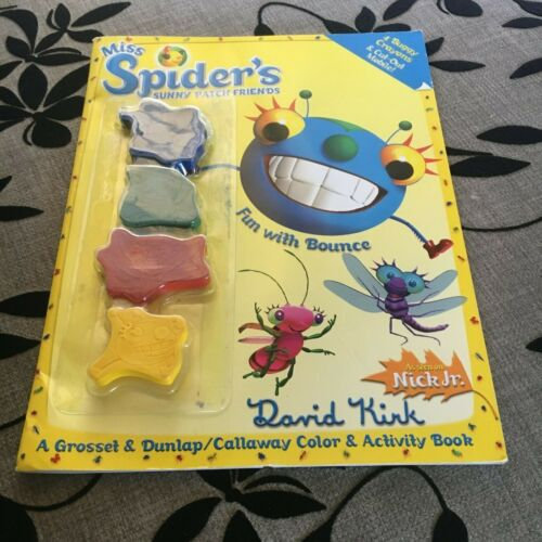 MISS SPIDER'S SUNNY PATCH FRIENDS. DAVID KIRK. 4 CRAYONS, CUTOUTS. 0448438046