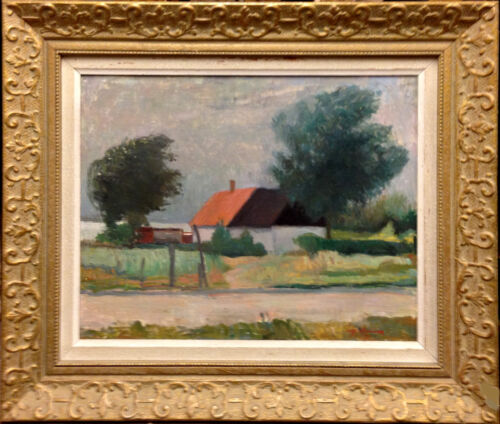 Tage Hansson (1889-1968): HOUSE by the LAKE