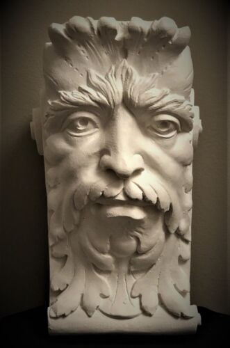 GREEN MAN WALL CORBEL BRACKET SHELF ARCHITECTURAL ACCENT HOME DECOR