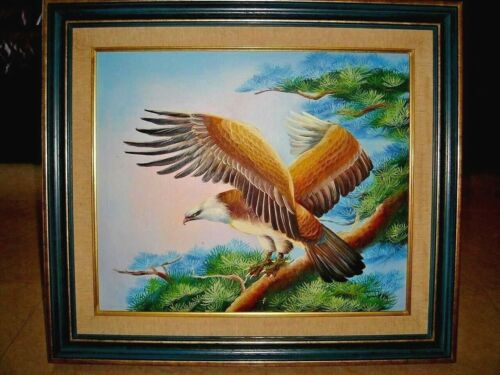 ARTWORK, Giant Eagle, Oil Painting with Classic Frame