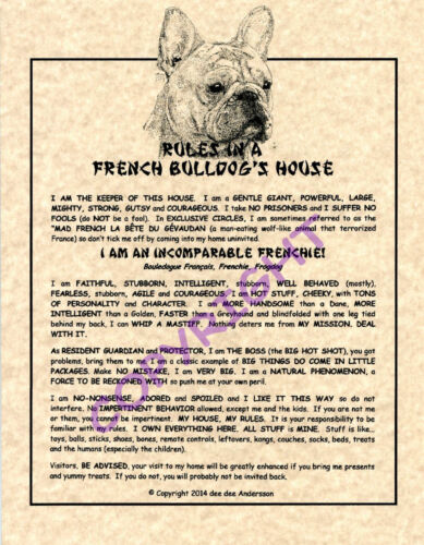 Rules In A French Bulldog's House
